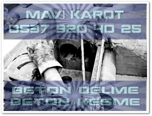 11 MAVİ KAROTM BETON D K